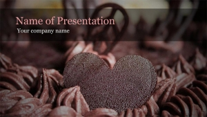 テーマ「ハートのチョコ」プレゼンの無料テンプレート