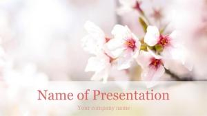 桜でお花見のプレゼン用テンプレート