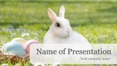 テーマ「イースターエッグとウサギ」